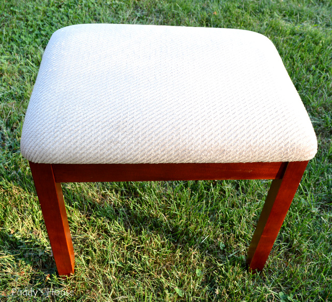 fabric stool - before