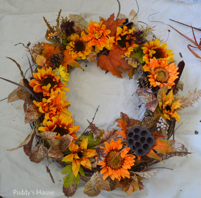 DIY Fall Wreath - after