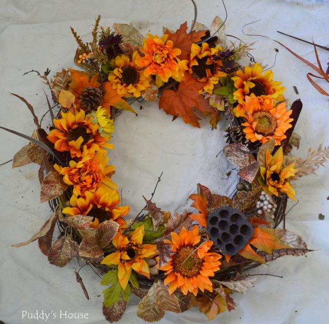 DIY Fall Wreath - after