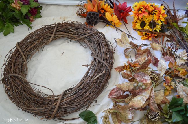 DIY Fall Wreath - before