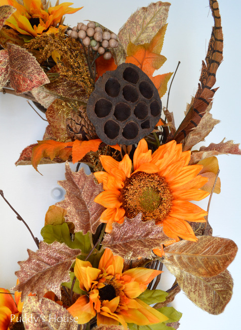 DIY Fall Wreath - close up