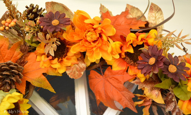 DIY Fall Wreath - close up2