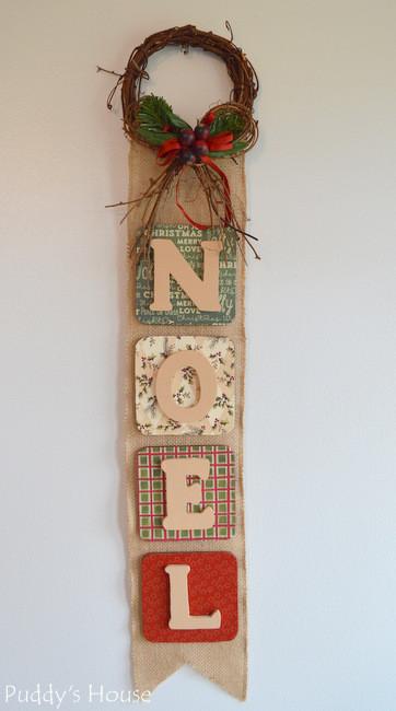 Noel Burlap Wall-Hanging