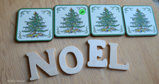 Noel - coasters before