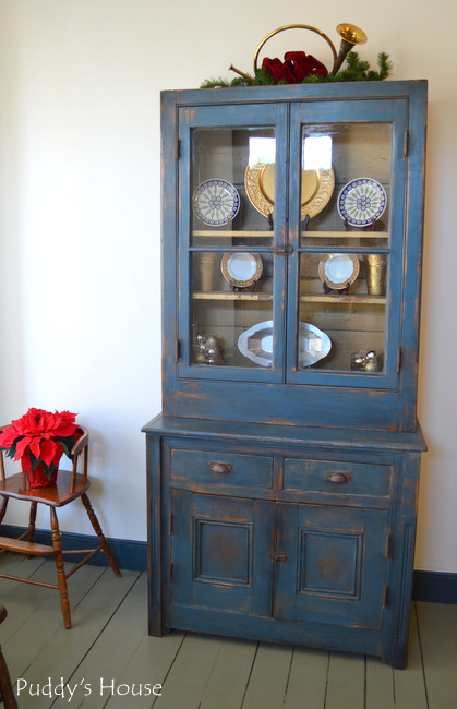 christmas dining room hutch