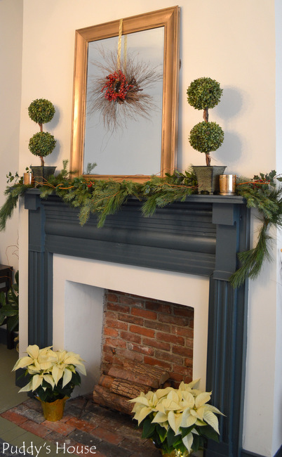 dining room mantel